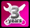 3年製品保証ロゴ